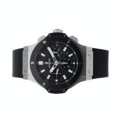 Hublot Black Stainless Steel Big Bang Chronograph 301.SM.1770.RX Men's Wristwatch 44 MM