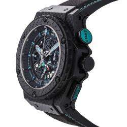 Hublot Black Carbon Fiber King Power F1 Abu Dhabi Limited Edition 719.QM.1729.NR.FAD11 Men's Wristwatch 48 MM