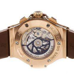 Hublot Brown Diamonds 18K Rose Gold Big Bang Cappuccino 301.PC.1007.RX.114 Men's Wristwatch 44 MM