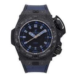 Hublot Blue Carbon Fiber King Power Oceanographic 4000 Limited Edition 731.QX.1190.GR.ABB12 Men's Wristwatch 48 MM