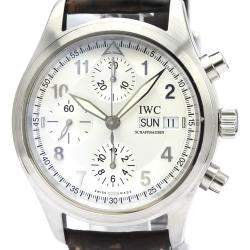 IWC Silver Stainless Steel Spitfire Chronograph Automatic IW370623 Men's Wristwatch 39 MM