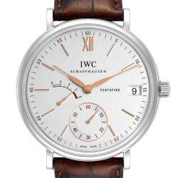 IWC Silver Stainless Steel Portofino Power Reserve IW510103 Men's Wristwatch 45 MM