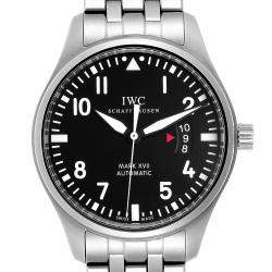 IWC Black Stainless Steel Pilots Mark XVII Automatic IW326504 Men's Wristwatch 46 MM