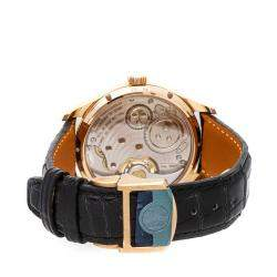 IWC Blue 18K Rose Gold Portugieser Tourbillon Hand-Wound IW5463-05 Men's Wristwatch 43 MM