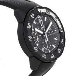 IWC Black Stainless Steel Aquatimer Chronograph Galapagos Edition IW3767-05 Men's Wristwatch 44 MM