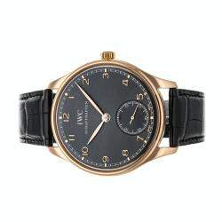 IWC Black 18K Rose Gold Portugieser IW5454-06 Men's Wristwatch 44 MM