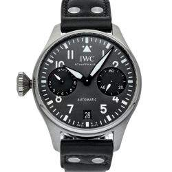 "IWC Grey Stainless Steel Pilot's ""Right Hander"" Limited Edition IW5010-12 Men's Wristwatch 46 MM"