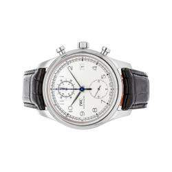 "IWC Silver Stainless Steel Portugieser Chronograph ""In House Movement"" IW3904-03 Men's Wristwatch 42 MM"