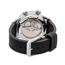 IWC Black Stainless Steel and Rubber Vintage Aquatimer Automatic IW3231-01 Men's Wristwatch 44MM