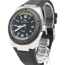 IWC Black Ceramic And Stainless Steel Ingenieur Automatic IW323401 Men's Wristwatch 44 MM