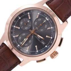 IWC Black 18K Rose Gold Schaffhausen Ingenieur Chronograph IW380803 Automatic Men's Wristwatch 42 MM