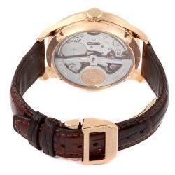 IWC Black 18K Rose Gold Portuguese Perpetual Calendar Moonphase IW503202 Men's Wristwatch 44 MM