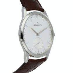 Jaeger LeCoultre Silver Stainless Steel Master Grand Ultra Thin Q1358420 Men's Wristwatch 40 MM