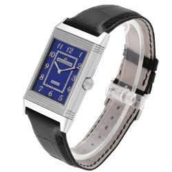 Jaeger LeCoultre Blue 18K White Gold Grande Reverso Limited Edition 273.3.62 Men's Wristwatch 49 x 30 MM
