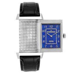 Jaeger LeCoultre Blue 18K White Gold Grande Reverso Limited Edition 273.3.62 Men's Wristwatch 49 x 30 MM