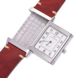Jaeger-Lecoultre Silver Stainless Steel Reverso Classic 250.8.86 Men's Wristwatch 23 MM