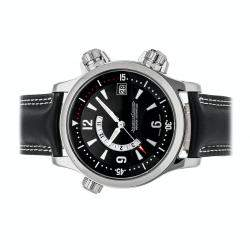 Jaeger LeCoultre Black Stainless Steel Master Compressor Memovox Q1708470 Men's Wristwatch 41.5 MM