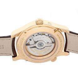 Jaeger LeCoultre Silver 18K Rose Gold Master Geographic Harmonisation 1502420 Men's Wristwatch 40 MM