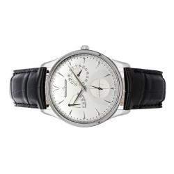 Jaeger LeCoultre Silver Stainless Steel Master Ultra Thin Reserve de Marche Q1378420 Men's Wristwatch 39 MM