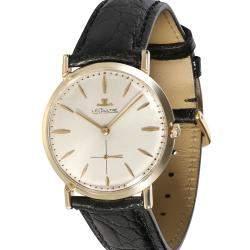 Jaeger Lecoultre Silver 14k Yellow Gold Dress 196 Men's Wristwatch 33 MM