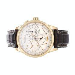Jaeger LeCoultre Silver 18K Rose Gold Duometre a Chronographe Limited Edition Q6011420 Men's Wristwatch 42 MM