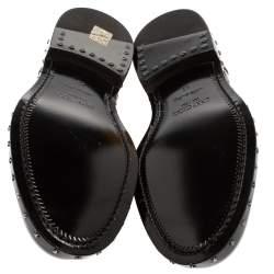 Jimmy Choo Black Patent Leather Slip On Loafers Size 42