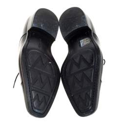 J.M.Weston Black Leather Lace Up Square Toe Derby Size 40