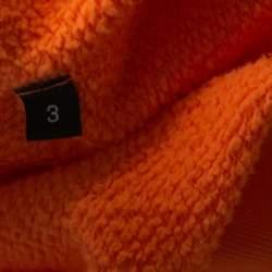 John Elliott Orange Vintage Fleece Lightweight Hoodie L