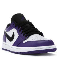 Nike Jordan 1 Low Court Purple White Sneakers US Size 12 EU Size 46