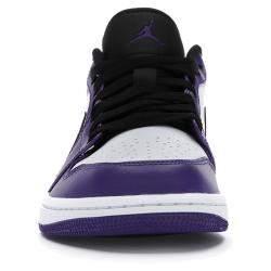 Nike Jordan 1 Low Court Purple White Sneakers US Size 7.5 EU Size 40.5