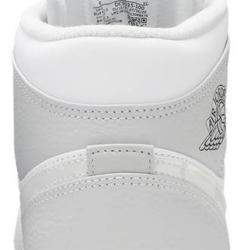 Nike Jordan 1 Mid Grey Camo Sneakers US Size 10 EU Size 44