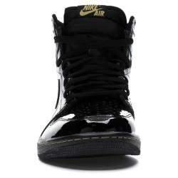Nike Jordan 1 High Black Metallic Gold Sneakers Size EU 40.5 US 7.5