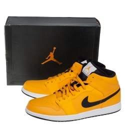 Air Jordan 1 Mid University Gold/Black Sneakers Size 47.5