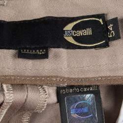 Just Cavalli Brown Embroidered Waist Detail Bermuda Shorts XXL
