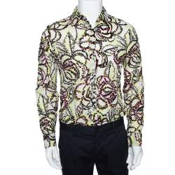 Kenzo Multicolor Printed Cotton Long Sleeve Shirt M