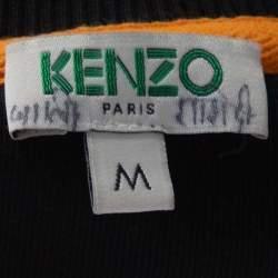 Kenzo Black Tiger Embroidered Cotton Crew Neck Sweatshirt M