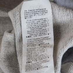 Kenzo Grey Cotton Logo Tiger Embroidered Sweatshirt XL