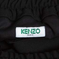 Kenzo Black Expedition Cropped Tapered Trousers M