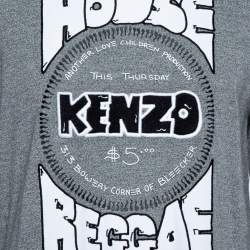 Kenzo Grey Melange Knit House Of Reggae Sweatshirt M