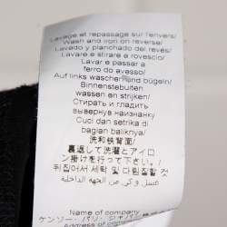 Kenzo Black Cotton Jersey Logo Cuff Print T-Shirt XL