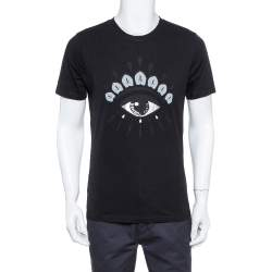Kenzo Black Eye Print Cotton Crew Neck T-Shirt M