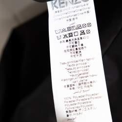 Kenzo Black Printed Synthetic Reversible Hooded Jacket L