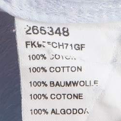 Kenzo Blue Textured Paisley Motif Cotton Comfort Fit  Long Sleeve Shirt 4XL