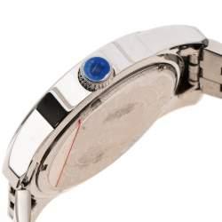 Lancaster Silver White Stainless Steel NPU Sportif Men's Wristwatch 44 mm