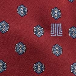 Lanvin Red Printed Silk Tie