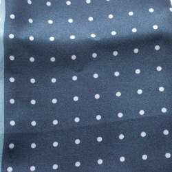 Lanvin Black and Grey Four Square Polka Dotted Silk Pocket Square