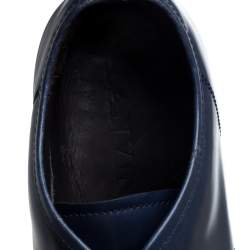 Lanvin Blue Leather Low top Sneakers Size 44