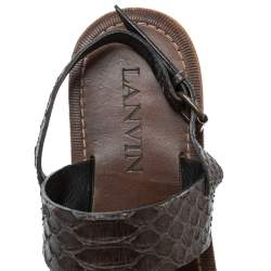 Lanvin Brown Python Leather Sandals Size 41