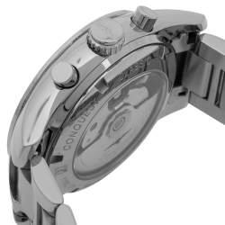 Longines Black Stainless Steel Conquest Classic L2.786.4.56.6 Men's Wristwatch 41 mm