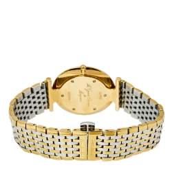 Longines White Two-Tone Stainless Steel La Grande Clasiique De Longines L47092117 Men's Wristwatch 33 mm